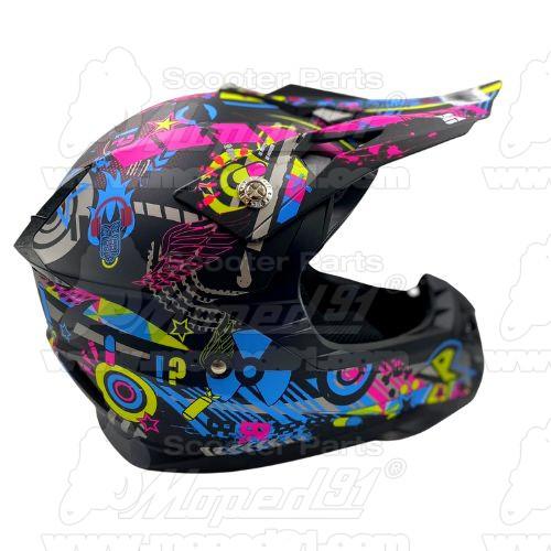 bukósisak zárt. BLACK MATT. Méret: XS. Szín: matt fekete. Tulajdonságok: ABS héjszerkezet, belső beépített napszemüveg, első, fe