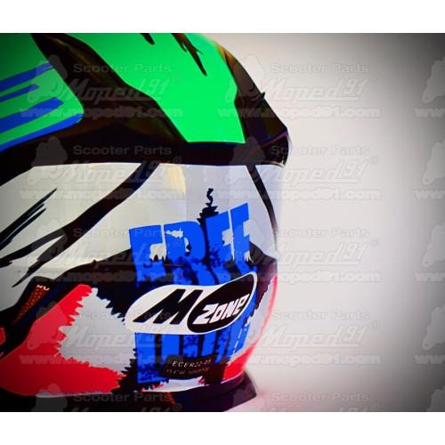 kerékpár csengő alumínium d: 53 mm, fehér-fekete LYNX Német minőség