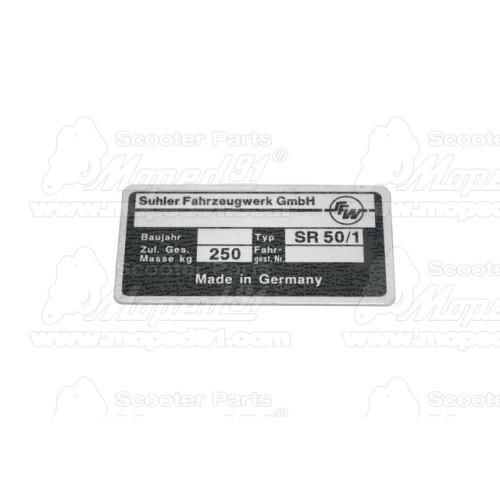 irányjelző lámpa komplett MZ TROPHY / ES 125-150-250 SIMSON SCHWALBE KR 51 / SPERBER / STAR (343105) karbon - fehér búra (343105