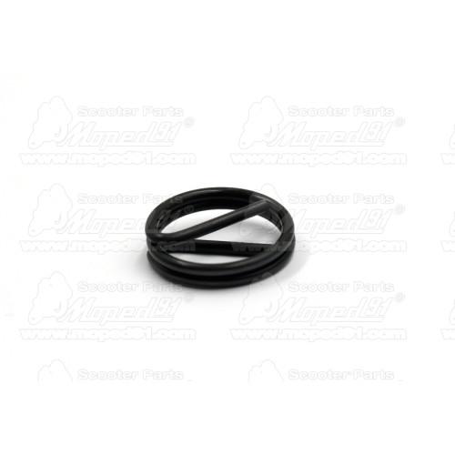 kerékpár nyereg PIQUADRO dupla rugós, felsőrész: szintetikus bőr, súly: 1010 gr. méret: 280x235 mm. szín: fekete