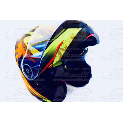 motoros kabát TRACK neon, méret: XXXL, cordura anyagból, kivehető thermo bélés, CE jóváhagyott protektorok, 100% vízálló anyagbó