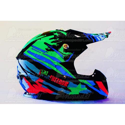 kerékpár csengő alumínium d: 53 mm, piros-fekete LYNX Német minőség