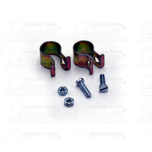 kerékpár szoknyavédő 24-26 col-ig, bal és jobb oldali, lyukak a v-féknek, műanyag, fekete színű, párban LYNX
