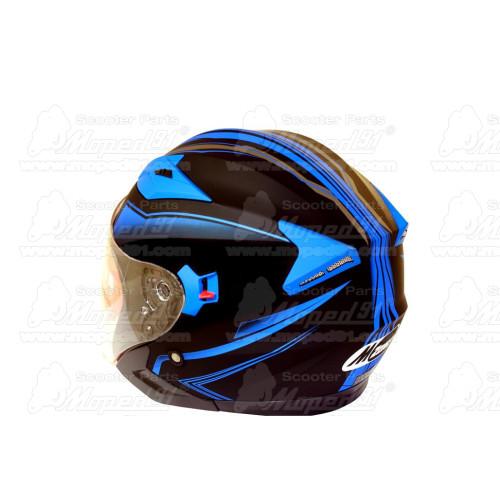 kerékpár csengő alumínium d: 53 mm, kék-fekete LYNX Német minőség