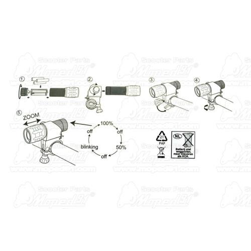 dugattyú gyűrű 45.25x2.0 SIMSON 70 (223740) EAST ZONE