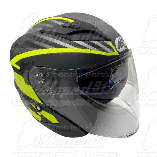 bukósisak nyitott. BLACK GLOSSY . Méret: XL. Szín: fényes fekete. Tulajdonságok: ABS héjszerkezet, belső beépített napszemüveg,