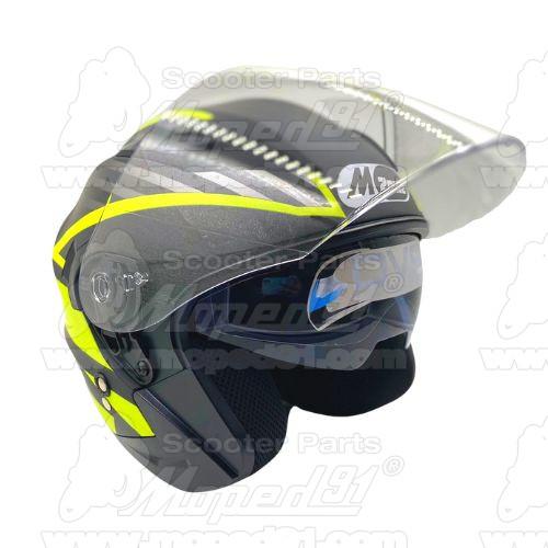 bukósisak nyitott. BLACK GLOSSY . Méret: L. Szín: fényes fekete. Tulajdonságok: ABS héjszerkezet, belső beépített napszemüveg, f