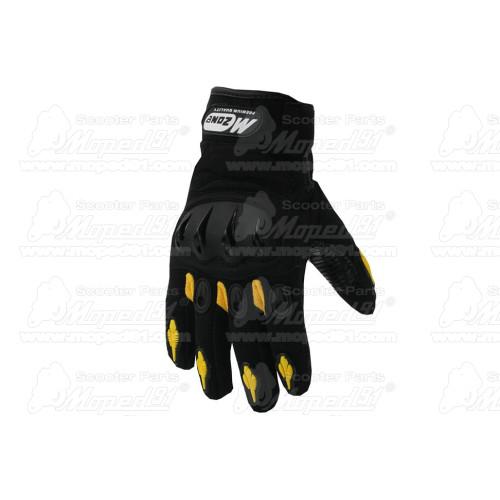 kerékpár láncvédő 42-44T, 120 mm, tartóvassal, polikarbonát műanyag, átlátszó füst színű, fekete színű betéttel LYNX